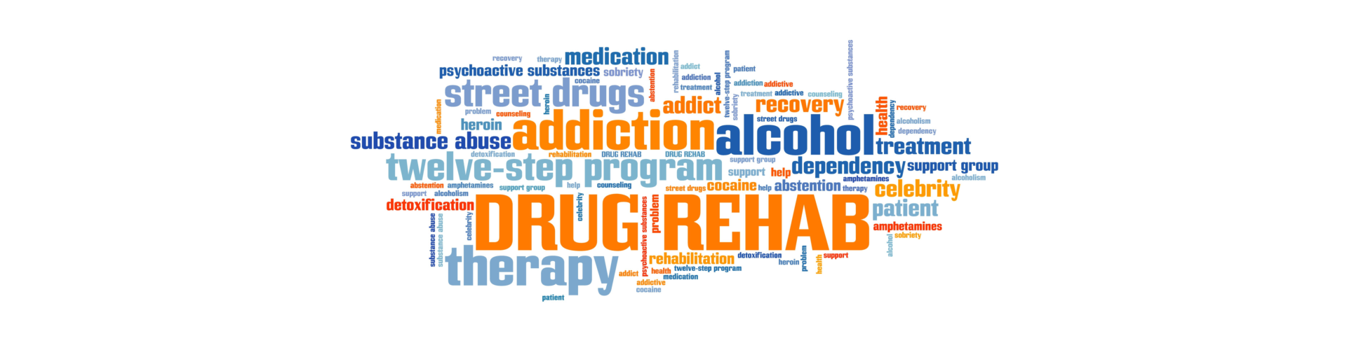 drug rehab drugs addiction word cloud
